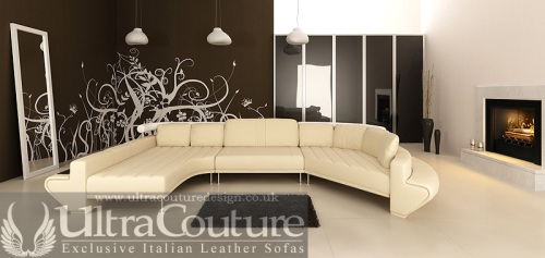 The Vasco Corner sofa in Snow White - Dressed in Italian Aniline leather