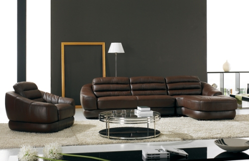 Italian leather sofas - A Brown Corner Sofa